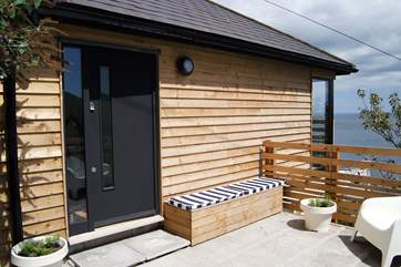 Mears Cottage, a modern seaside cottage in a traditional Cornish fishing village.