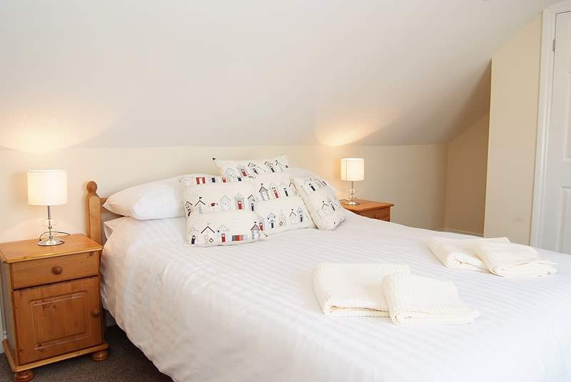 The double bedroom is bright and comfortable.