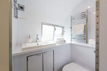 The compact but efficient en suite shower-room.
