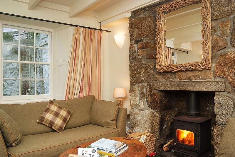 A roaring wood-burner makes this an ideal retreat all year round.