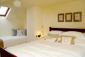 One of the double bedrooms (Bedroom 1) in Medlar Cottage (2595) which also has a small day bed.