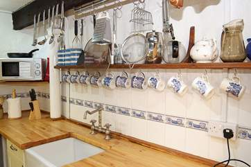 The cottage kitchen is small but perfectly formed and very well-equipped.