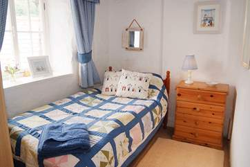 One of the single bedrooms.