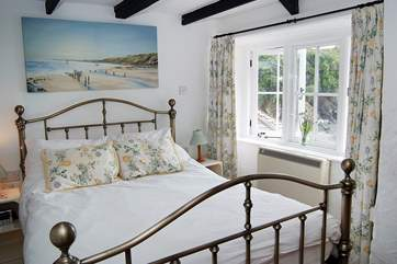The lovely double bedroom is at the front of the cottage and simply has the very best view.