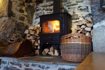 The wood-burner will keep you cosy on those cooler days and evenings.