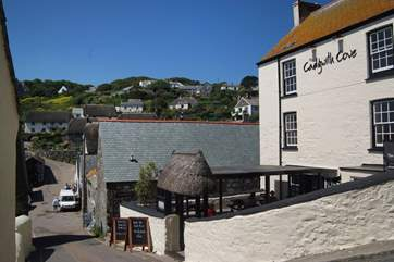 The Cadgwith Cove Inn right in the heart of the village.