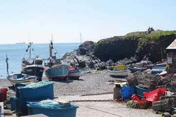 Cadgwith is a working fishing harbour.