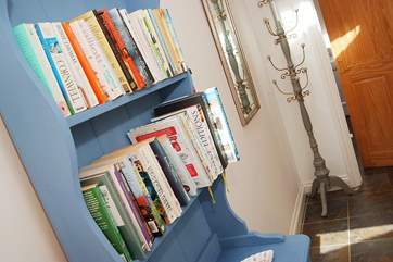Plenty of books to keep guests occupied.