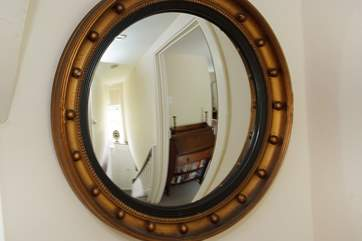A lovely vintage convex mirror.