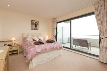 The master bedroom opens on to the balcony too and is a really spacious room.