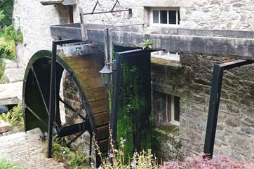 The water wheel has been restored to working order.