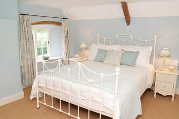 The double bedroom is very spacious in the cottage.