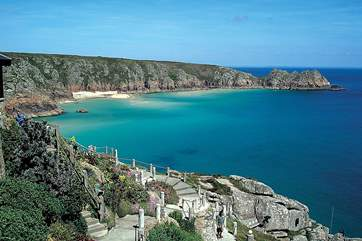 Porthcurno beach and the Minack Theatre are approximately 10 miles away.