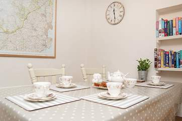 You can study a map of Dartmoor and plan your trips out whilst haivng a cup of tea.