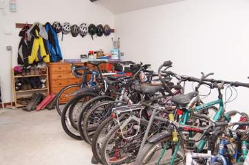 The Owners provide a secure shed for bikes as well as fishing tackle, golf bags etc.