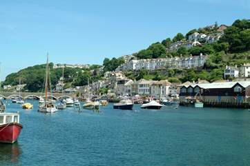Looe is less than three miles away, a busy fishing and sailing port.