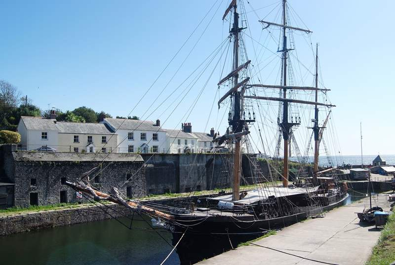 One of the beautiful tall ships in Charlestown harbour.