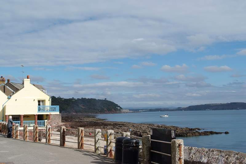 Looking from Kingsand to Fort Picklecombe on the point.