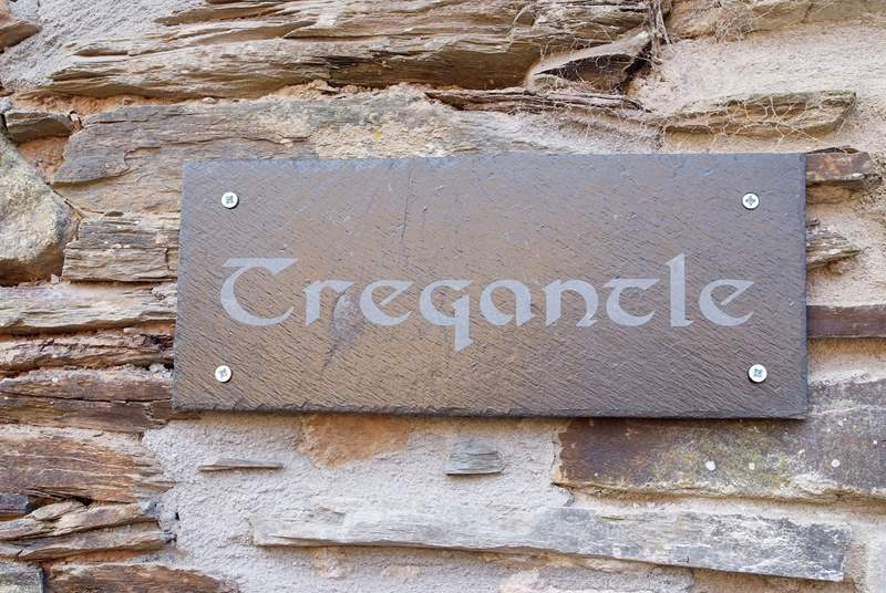 The name sign for Tregantle.