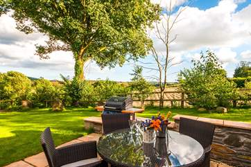 Dining al fresco is a must with the stunning countryside views as a backdrop.
