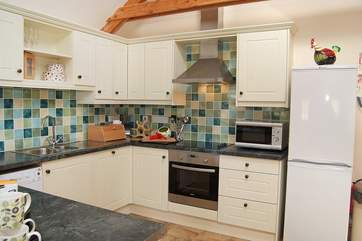 Whether making a cup of tea, breakfast or an evening meal, the kitchen has everything you will need.