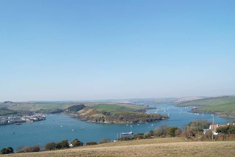 There are some spectacular views and walks around the South Hams. This is the Kingsbridge Estuary with Salcombe shown on the left.
