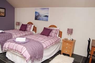 The ground floor twin bedroom (Bedroom 1).