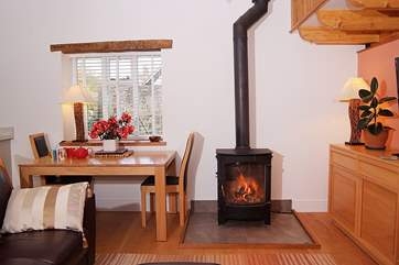 As well as under-floor heating there is a wood-burner making this a great retreat whatever the time of year.