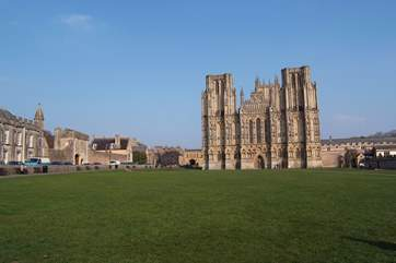 The beautiful Cathedral City of Wells is a short drive away and well worth a visit.