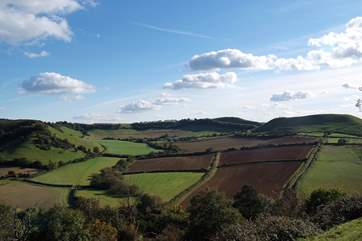 This is the iron age fort at Cadbury Castle - one of Somerset's historic landmarks.