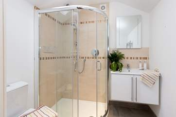 The shower-room is on the ground floor - another very well-proportioned space with an excellent shower.