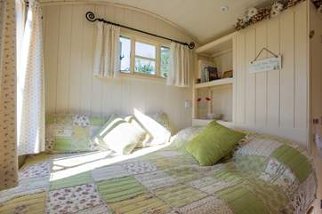 A very comfortable double bed will ensure a good night's sleep in the countryside.