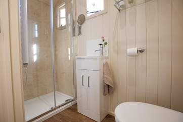 The superbly fitted en suite shower-room.
