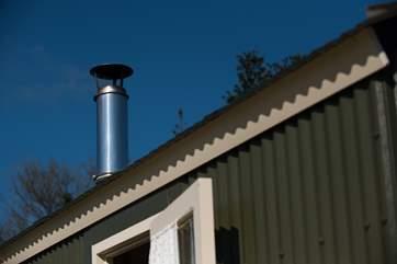 The little chimney for the wood-burner.