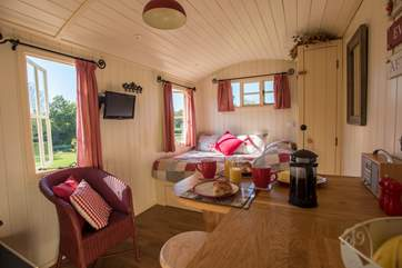 And even has a TV and underfloor heating for the cooler days!