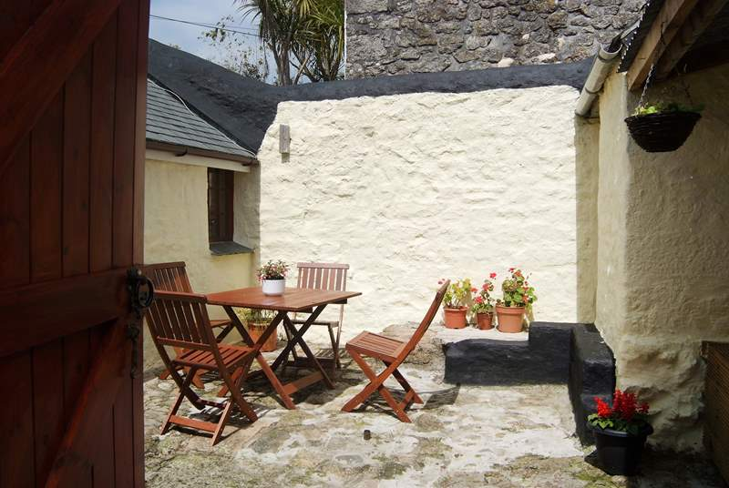 The enclosed private courtyard is a real sun-trap.
