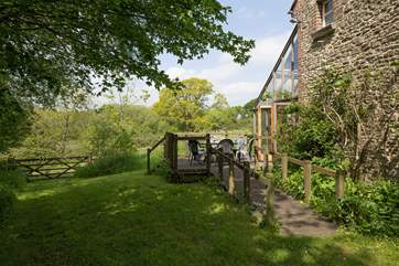 Beech Cottage, right on the edge of the Dorset Wildlife Trust's largest nature reserve.