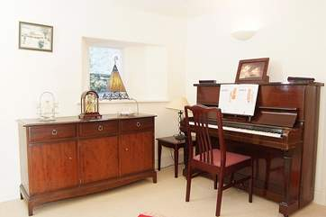 There is even a piano in this tucked away area of the ground floor.