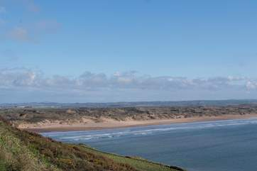 North Devon is home to some of the most amazing sandy surfing beaches. This is Saunton Sands.