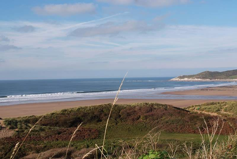 This is Woolacombe - another great family beach whatever the time of year.