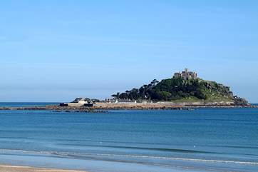 Marazion and St Michael's Mount just a stomp along the coastal path from The Summer House.