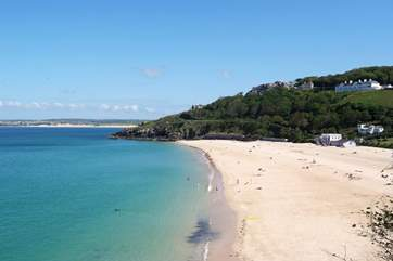 St Ives beach, stunning and just a seven mile drive away.