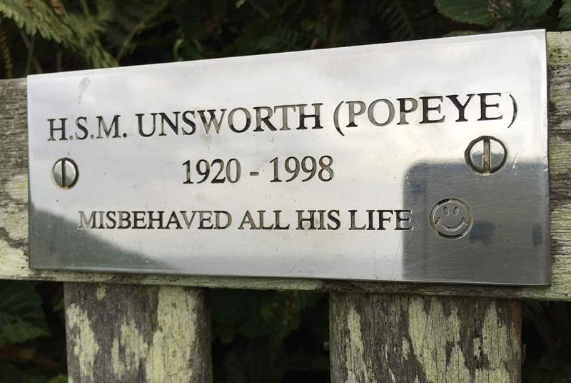 Look out for Popeye on the coast path.