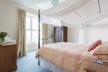 The master bedroom has wonderful sea views that can be enjoyed without leaving your bed.