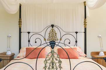 The pretty four-poster bed is something rather special.