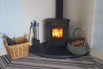 For those cooler evenings the wood-burner will keep you cosy.