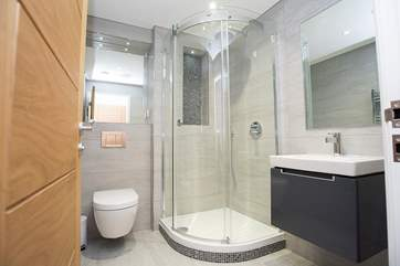 The en suite shower-room to the master bedroom.
