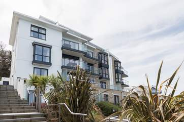 The stunning building sits in one of the most sught after locations in St Ives.