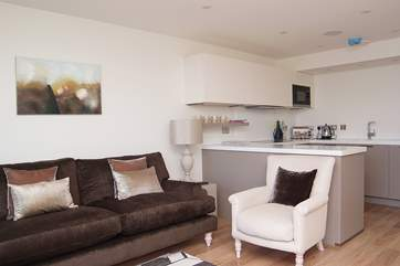 This light and spacious room is stylish and very comfortably furnished.