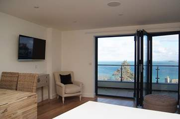 There is a lovely view from the open plan living-room.